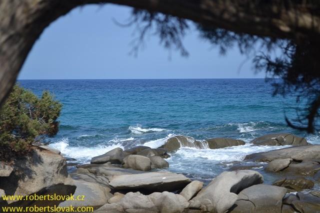 Lido di Orri, Red Rocks, Sardinie, Sardinia, Sardegna